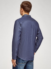Рубашка принтованная с нагрудным карманом oodji для мужчины (синий), 3L320014M/49756N/7570D - вид 3