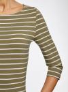 Платье трикотажное базовое oodji #SECTION_NAME# (зеленый), 14001071-2B/46148/6630S - вид 5