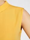 Блузка базовая без рукавов с воротником oodji #SECTION_NAME# (желтый), 11411084B/43414/5200N - вид 5