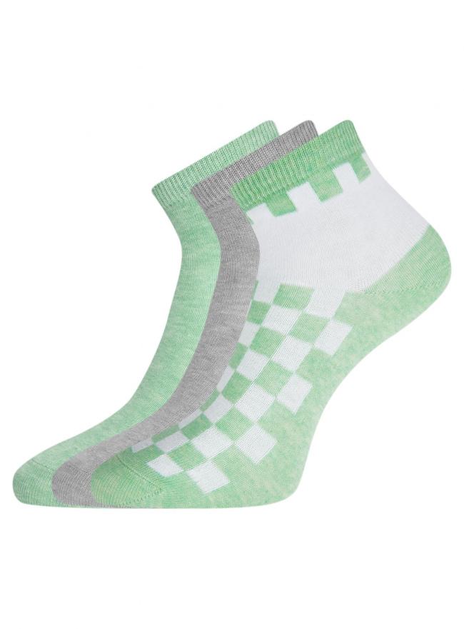 Комплект из трех пар укороченных носков oodji для женщины (разноцветный), 57102418T3/47469/40