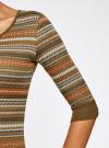 Платье жаккардовое с геометрическим узором oodji для женщины (зеленый), 14001064-5/46025/6859G - вид 5