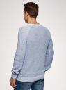 Джемпер вязаный с круглым вырезом oodji для мужчины (синий), 4L107144M/50537N/7010M