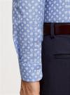 Рубашка принтованная приталенного силуэта oodji #SECTION_NAME# (синий), 3L310141M/46212N/7010E - вид 5
