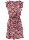 Платье принтованное из вискозы oodji #SECTION_NAME# (красный), 11910073-2/45470/4910F