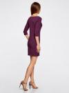 Платье трикотажное базовое oodji для женщины (фиолетовый), 14001071-2B/46148/8301N - вид 3