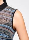 Топ из струящейся ткани с контрастной отделкой oodji для женщины (разноцветный), 14903001-1B/42816/2975G - вид 5