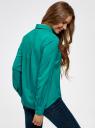Блузка базовая из вискозы oodji #SECTION_NAME# (зеленый), 11411136B/26346/6D00N - вид 3
