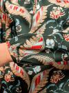 Блузка свободного кроя с вырезом-капелькой oodji #SECTION_NAME# (зеленый), 21400321-2/33116/6945F - вид 5