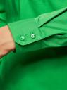 Рубашка базовая с нагрудными карманами oodji #SECTION_NAME# (зеленый), 11403222B/42468/6A00N - вид 5