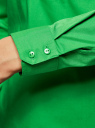 Рубашка базовая с нагрудными карманами oodji для женщины (зеленый), 11403222B/42468/6A00N