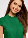 Рубашка с коротким рукавом из хлопка oodji #SECTION_NAME# (зеленый), 11403196-1/18193/6E00N - вид 4