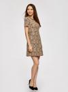 Платье приталенное кружевное oodji #SECTION_NAME# (бежевый), 11900213/45991/2935L - вид 6