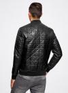 Куртка-бомбер из искусственной кожи oodji для мужчины (черный), 1L511044M/44375N/2900N - вид 3