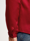 Рубашка льняная без воротника oodji #SECTION_NAME# (красный), 3B320002M/21155N/4500N - вид 5