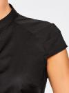Рубашка с коротким рукавом из хлопка oodji #SECTION_NAME# (черный), 11403196-3/26357/2900N - вид 5
