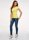 Комплект футболок с вырезом-капелькой на спине (3 штуки) oodji #SECTION_NAME# (желтый), 14701026T3/46147/6700N - вид 6