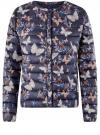 Куртка стеганая с круглым вырезом oodji для женщины (синий), 10204040-1B/42257/7980U