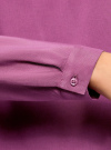 Блузка вискозная базовая oodji #SECTION_NAME# (фиолетовый), 11411135-3B/26346/4C00N - вид 5