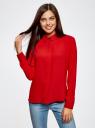 Блузка из струящейся ткани oodji #SECTION_NAME# (красный), 11400368-3/32823/4500N - вид 2
