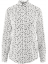 Блузка прямого силуэта с нагрудным карманом oodji #SECTION_NAME# (белый), 11411134B/48853/1229O