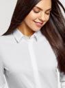 Рубашка базовая приталенного силуэта oodji для женщины (белый), 13K03003B/42083/1000N