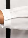 Блузка из вискозы с контрастной отделкой oodji #SECTION_NAME# (белый), 11411059-6B/48756/1229B - вид 5