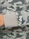Свитшот хлопковый прямого силуэта oodji #SECTION_NAME# (зеленый), 14807021-1B/46919/6025O - вид 5