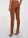 Брюки базовые зауженные oodji для женщины (коричневый), 11707099-1B/42250/3700N