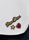 Рубашка свободного силуэта с декором oodji #SECTION_NAME# (белый), 13K11012/36217/1000N - вид 5