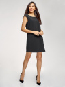 Платье прямого силуэта с глубоким вырезом на спине oodji #SECTION_NAME# (черный), 11905031/46068/2900N - вид 6