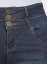 Джинсы скинни с завышенной талией oodji для женщины (синий), 12104053-1B/18831/7900W