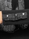 Футболка с длинным рукавом и вырезом-лодочкой oodji для женщины (черный), 14201047-1/46159/2900P