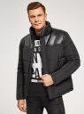Куртка утепленная на молнии oodji для мужчины (черный), 1L121003M/49537N/2900N