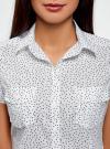 Рубашка из хлопка принтованная oodji #SECTION_NAME# (белый), 11402084-3/12836/1029D - вид 4