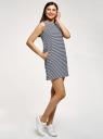 Платье из ткани пике oodji для женщины (синий), 14005074-1B/46149/7910S
