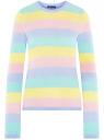 Джемпер ажурный в полоску oodji для женщины (разноцветный), 63812678/19904/1970S