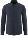 Рубашка приталенная с воротником-стойкой oodji для мужчины (синий), 3B140004M/34146N/7900N
