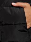 Пальто стеганое с объемным воротником oodji для женщины (черный), 10204049-1B/24771/2900N - вид 5
