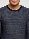 Джемпер вязаный с круглым вырезом oodji #SECTION_NAME# (синий), 4L112216M/46231N/7574J - вид 4