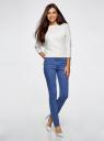 Джинсы базовые slim-fit oodji для женщины (синий), 12104059/45596/7500W