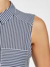 Топ вискозный с нагрудным карманом oodji #SECTION_NAME# (синий), 14911009-1B/26346/7912S - вид 5