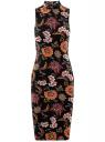 Платье облегающего силуэта с воротником-стойкой oodji #SECTION_NAME# (черный), 14005138-3B/46943/294AF