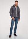Куртка утепленная с капюшоном oodji для мужчины (синий), 1B112010M/49002N/7901N