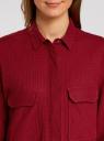 Рубашка в мелкую графику с карманами oodji #SECTION_NAME# (красный), 21441095/43671/4549G - вид 4