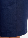 Юбка льняная прямая oodji для женщины (синий), 21611031-2/16009/7900N