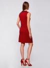 Платье трикотажное с декором из камней oodji #SECTION_NAME# (красный), 24005134/38261/4500N - вид 3