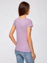 Футболка базовая из хлопка oodji для женщины (фиолетовый), 14701008B/46154/8000N