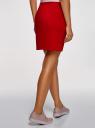 Юбка мини с карманами oodji для женщины (красный), 14101100/33185/4501N