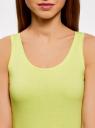 Майка базовая oodji для женщины (зеленый), 14315002B/46154/6700Y