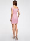 Платье хлопковое со сборками на груди oodji #SECTION_NAME# (розовый), 11902047-2B/14885/4010S - вид 3